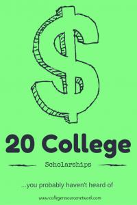20 college scholarships